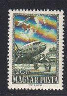 Hongrie 1957 Poste Aerienne. Yvert 194 ** Neufs Sans Charniere. Type Du 105. Avion Bimoteur. - Ungarn