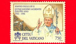 VATICANO - Usato - 1996 - 50º Anniversario Dell'ordinazione Sacerdotale Di Sua Santità Giovanni Paolo II - 750 L. - Vatican