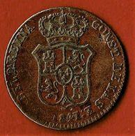 ESPAGNE / BARCELONE / ISABEL II / 3 CUAR / 3 QUARTOS / 1847 - Provincial Currencies