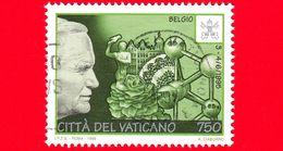 VATICANO - Usato - 1996 - Viaggi Di Giovanni Paolo II Nel 1995 - Belgio -  750 L. - Vatican
