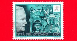 VATICANO - Usato - 1996 - Viaggi Di Giovanni Paolo II Nel 1995 - Repubblica Ceca, Polonia - 500 L. - Vatican