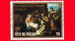 VATICANO - Usato - 1996 - Natale - Natività - 750 L. - Vatican