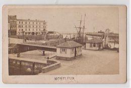 Rare CDV Albuminé Daté De 1874  Honfleur (14)  Quais Et écluse  Du Grand  Port  Par Letellier Photographe Bolbec - Photos