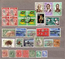 BRITISH COLONIES JAMAICA Used Gestempelt Oblitere Different Stamps Lot #10141 - Briefmarken