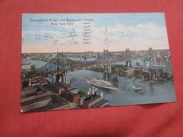 New York >  Queensboro Bridge & Blackwell' Island   New York City    Ref 4187 - Manhattan