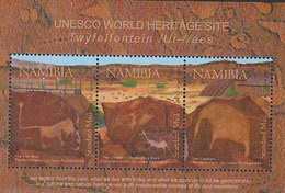 NAMIBIE 2008 - UNESCO - Site De Twijfelfontein - BF - Namibie (1990- ...)