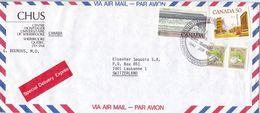Kanada Brief In Die Schweiz 1983 Air Mail Special Delivery Exprès, Mischfrankatur - Canada