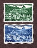 Andorre  N°150,151 N** LUXE  Cote 110 Euros !!! - Unused Stamps