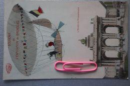 Souvenir De L'exposition De BRUXELLES : L'arcade Du Cinquantenaire Vu Du Ciel ..... En 1910 - Events