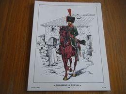Planche De 1969  CHASSEUR A CHEVAL 1810 - Books, Magazines  & Catalogs