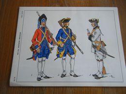 Planche De 1969  INFANTERIE FRANCAISE 1757 1760 - Books, Magazines  & Catalogs