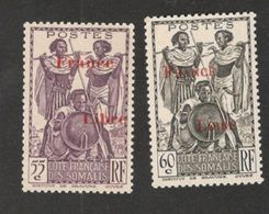 FRENCH SOMALI COAST....1942(Yver216-17)mnh** - Nuovi