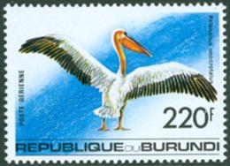 BURUNDI 1992 - Grand Pélican  - 1 V. - Pellicani