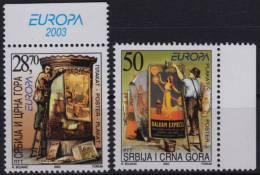 Sailing Ship Balkan Express Paintbrush 2003 Serbia Montenegro Yugoslavia Europa CEPT POSTER Label Cinderella Vignette - Europa-CEPT