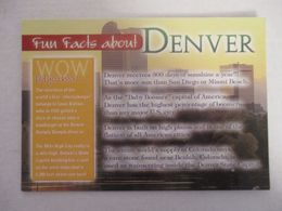 RARELY POSTCARD CPA CP ETATS-UNIS UNITED STATES USA COLORADO - FUN FACTS ABOUT DENVER - GOOD CONDITIONS - Denver