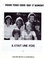 """1975-PARTITION """" POUR TOUS CEUX QUI S'AIMENT """" PAR GROUPE """" IL ETAIT UNE FOIS """" - EXC ETAT COMME NEUF - - Musik & Instrumente"""