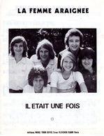 """1975 - PARTITION """" LA FEMME ARAIGNEE """" PAR GROUPE """" IL ETAIT UNE FOIS """" - EXC ETAT - - Musik & Instrumente"""