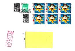 FRANCIA FRANCE - 2020 Lettera  Per Estero Con 9 Francobolli (3 Marianne, Blocco 6v Da Libretto 1999 Croce Rossa ) - 4615 - France