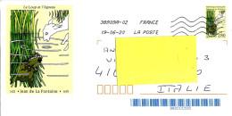 FRANCIA FRANCE - 2020 Lettera  Per Estero Su Busta 1995 Le Loup Et L'agneau - 4141 - France