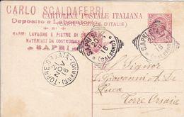 Sapri Stazione (Salerno) Tondo-riquadrato Del 1916 - Storia Postale