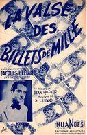 """1947 - PARTITION """" LA VALSE DES BILLETS DE MILLE """" PAR JACQUES HELIAN ET SON ORCHESTRE - EXC ETAT - - Música & Instrumentos"""