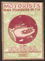 "Nederlande Amsterdam ~1913 "" General Motorists Assurance "" Vignette Cinderella Reklamemarke - Vignetten (Erinnophilie)"