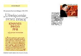 POLONIA - POLSKA 2000 POZNAN Annullo Fdc S. JOSE' MARIA ESCRIVA', Canonizzato Nel 2002 Da Papa Giovanni Paolo II - 3870 - 1944-.... Republic