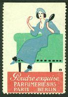 "France Paris + Berlin 1913 Jugendstil Art Nouveau "" Poudre Parfumerie "" Vignette Cinderella Reklamemarke - Vignetten (Erinnophilie)"