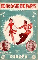 """1946 - PARTITION """" LE BOOGIE DE PARIS """" PAR JACQUES HELIAN ET SON ORCHESTRE - LILY FAYOL - EXC ETAT - - Musique & Instruments"""