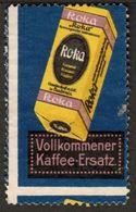 "Budweis Böhmen Ceske Budejovice 1913 "" ROKA Karamel Roggenkaffee "" Vignette Cinderella Reklamemarke - Vignetten (Erinnophilie)"