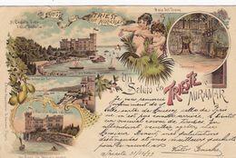 TRIESTE MIRAMAR-GRUSS AUS-BELLA CARTOLINA  VIAGGIATA IL 31-12-1899 - Trieste