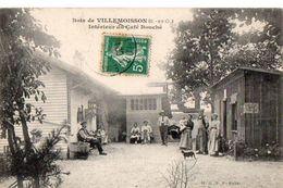 Bois De VILLEMOISSON (S.et-O.) Intérieur Du Café BOUCHE - Francia