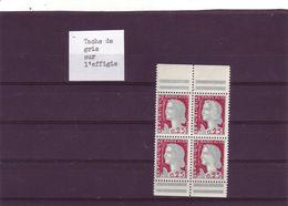 N° 1263 - 0,25 DECARIS - Taches De Gris Sur Les Effigies Des Timbres De Droite - - 1960 Maríanne De Decaris