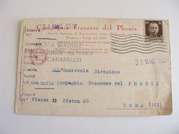 1934  COMPAGNIA  FRANCIA  FRANCE  PHENIX   ASSICURAZIONE INCENDI   A BIELLA   COME DA FOTO - Händler
