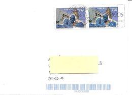 SPAGNA - 2020 Lettera Per L'estero Con 2 Francobolli 2014 PEDRO CIEZA DE LEON  - 3874 - 2011-... Lettres