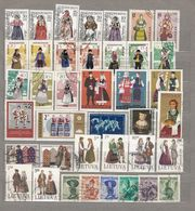 NATIONAL FOLK COSTUMES Nice Used (o) Stamps Lot #16702 - Briefmarken