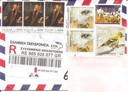 GRECIA - 2020 Raccomandata Per L'estero Con 7 Francobolli + Etichetta Racc.  - 3875 - Greece