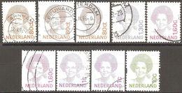 Pays Bas - 1991 à 1993 - Reine Béatrix - YT 1380C, 1380Ca, 1380Cb, 1380D, 1380F, 1380Fa, 1415, 1415a Et 1461 Obliérés - 1980-... (Beatrix)
