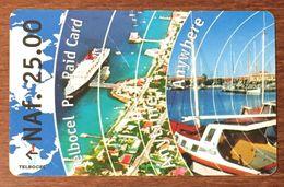 ANTILLES NEÉRLANDAISES ÎLE BONAIRE TELBOCEL NAF 25.00 EXP LE 01/07/2001 PREPAID PREPAYÉE PHONECARD - Antilles (Neérlandaises)