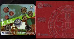 2008 DIVISIONALE SERIE ZECCA UFFICIALE ITALIA FDC CON ARGENTO 9 MONETE VALORI - 5 EURO IFAD - SET ITALY - Italie