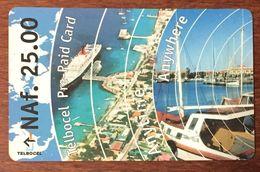 ANTILLES NEÉRLANDAISES ÎLE BONAIRE TELBOCEL NAF 25.00 EXP LE 31/12/2002 PREPAID PREPAYÉE PHONECARD - Antilles (Neérlandaises)
