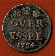 PAYS BAS / OVERYSSEL  / 1 DUIT / 1764 AIGLE - [ 5] Monnaies Provinciales