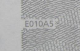 5 EURO E010A5 Netherlands Serie P Perfect UNC - EURO