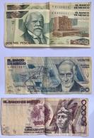 6 BILLETS MEXIQUE: 10-20-50-2000-50000 PESOS - Messico