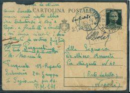 CARTOLINA POSTALE PM 179 210°DIVISIONE COSTIERA 13° REP SALMERIE 20 GRUPPO X ORTA DI ATELLA NAPOLI - War 1939-45