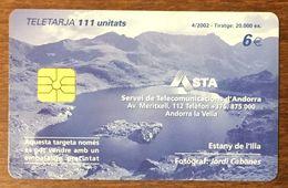 ANDORRE ESTANY DE L'ILLA RÉF PHONECOTE AND129 TÉLÉCARTE PHONECARD UT CARD TELECARTE - Andorre
