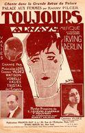 """1926 - """" TOUJOURS ALWAYS """" DE LA REVUE PALACE AUX FEMMES -TRES BELLE ILLUSTRATION ART DECO DE LORIS - EXC ETAT - - Musique & Instruments"""