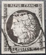 Cérès N° 3a (Variété, Petits Points) Avec Oblitération Grille De 1849  TTB - 1849-1850 Ceres