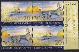 2004  Zypern   Mi. 1035-6  DO DU  **MNH  Europa : Ferien - Europa-CEPT