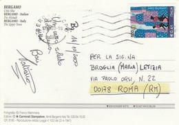 """St.Posta 1685 - REPUBBLICA 2000 - Cartina Illustrata, Affran. Con L.800 0,41 """"Anno Felliniano"""" Isolato In Tariffa - 6. 1946-.. Republik"""